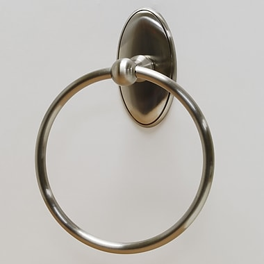 Residential Essentials Addison Wall Mounted Towel Ring; Satin Nickel