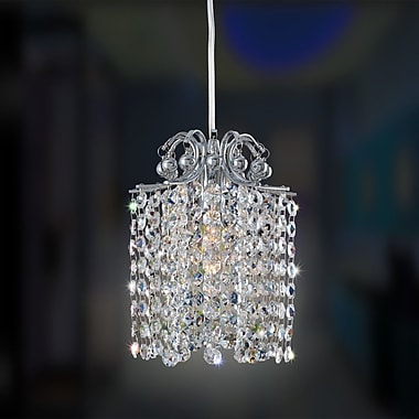 Allegri Milieu Mini Pendant 1-Light Crystal Mini Pendant; Firenze Fleet Argentine
