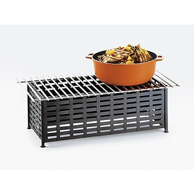 Cal-Mil Iron Lattice Rectangle Stand w/ Grill