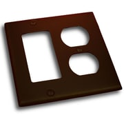 Residential Essentials Double GFI and Recep Plate; Venetian Bronze