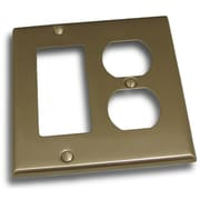 Residential Essentials Double GFI and Recep Plate; Satin Nickel