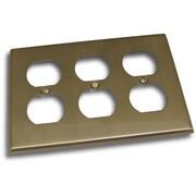 Residential Essentials Triple Recep Plate; Satin Nickel