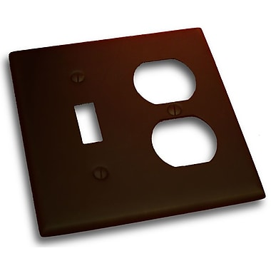 Residential Essentials Double Switch and Receptacle Plate; Venetian Bronze