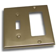 Residential Essentials Double Rocker and Switch Plate; Satin Nickel