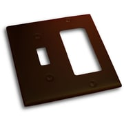 Residential Essentials Double Rocker and Switch Plate; Venetian Bronze