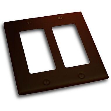 Residential Essentials Double Rocker Plate; Venetian Bronze