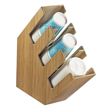 Cal-Mil 3 Section Wood Cup/Lid Holder