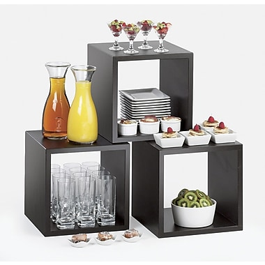 Cal-Mil Library Cube Tiered Stand; Midnight