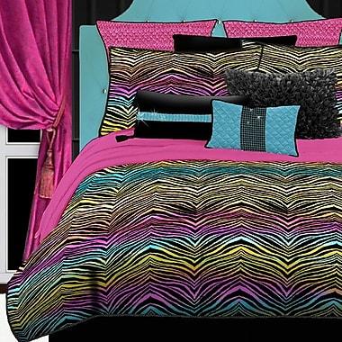 Veratex Rainbow Zebra Comforter Set; Full