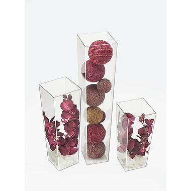 Cal-Mil Square Display Vase; Medium