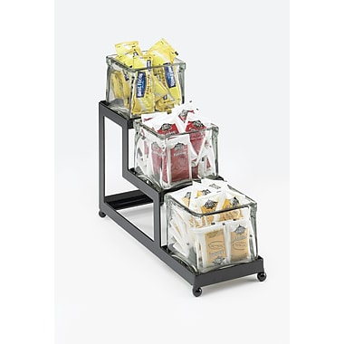 Cal-Mil 3 Tier Lg Cond Glass Cont; Black