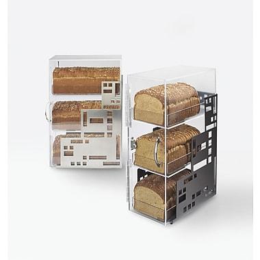 Cal-Mil Squared Bread Box; Black