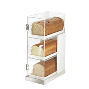 Cal-Mil Luxe 3 Tier Bread Box Frost Display; Stainless Steel