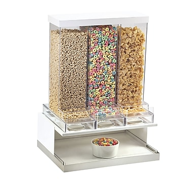 Cal-Mil Luxe Triple Canister Mod Cereal Dispenser; Stainless Steel