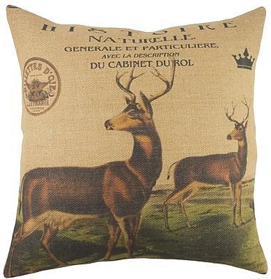 TheWatsonShop Herd Burlap Throw Pillow