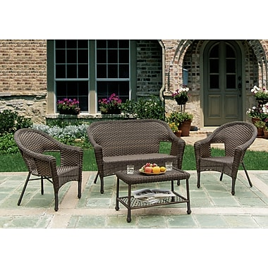 W Unlimited Earth Entertainment 4 Piece Deep Seating Group
