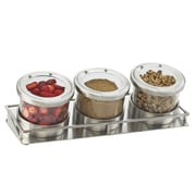 Cal-Mil Mixology 3-Piece Kitchen Canister Set; Stainless Steel