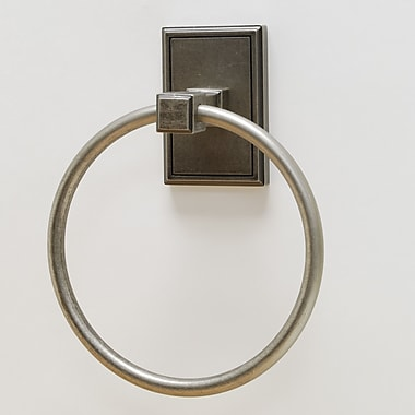 Residential Essentials Hamilton Wall Mounted Towel Ring; Aged Pewter