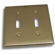 Residential Essentials Double Switch Plate; Satin Nickel