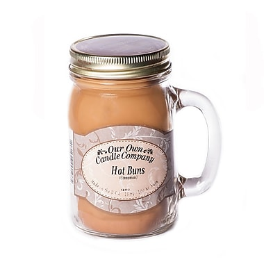 OOCC Soy-Based Mason Jar Candle, 13oz., Hot Buns Scent, 4/Pack