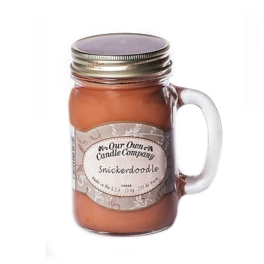OOCC Soy-Based Mason Jar Candle, 13oz., Snickerdoodle Scent, 6/Pack