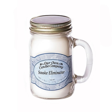 OOCC Soy-Based Mason Jar Candle, 13oz., Smoke Eliminator, 4/Pack