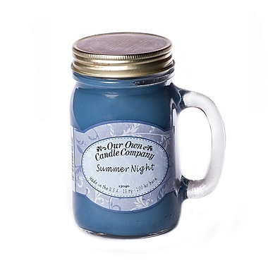 OOCC Soy-Based Mason Jar Candle, 13oz., Summer Nights Scent, 12/Pack