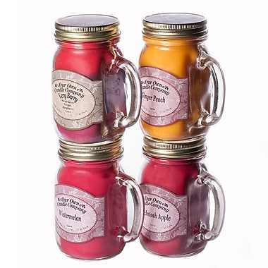 OOCC – Bocal-chandelle à base de soya, 13 oz, parfums de fruits, paq./4