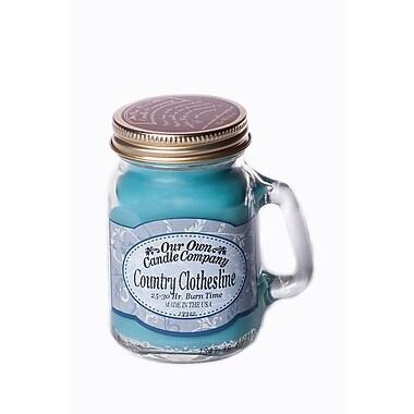OOCC – Mini bougie au soya dans un pot Mason, parfum corde à linge campagnarde, 8/paquet
