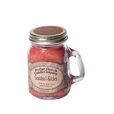 OOCC – Mini bougie au soya dans un pot Masson, parfum cuisine de grand-mère, paq./12