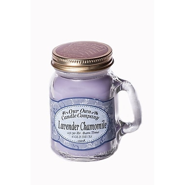 OOCC Soy-Based Mini Mason Jar Candle, Lavender Chamomile Scent, 8/Pack