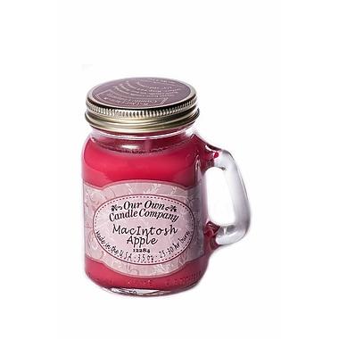 OOCC Soy-Based Mini Mason Jar Candle, MacIntosh Scent, 12/Pack