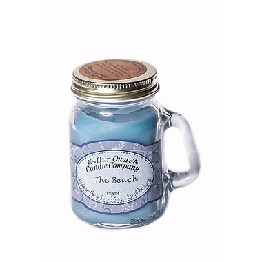OOCC Soy-Based Mini Mason Jar Candle, The Beach Scent, 12/Pack