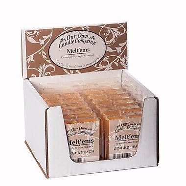 OOCC – Bougies au soya Melt'ems, parfum pêche et gingembre, 12/paquet