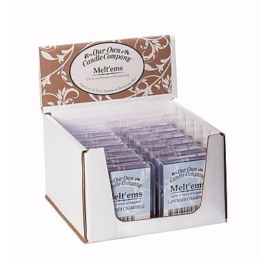 OOCC Soy-Based Melt'ems Candle, Lavender Chamomile Scent, 12/Pack