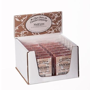 OOCC – Bougies au soya Melt'ems, parfum de citrouille épicée, 12/paquet