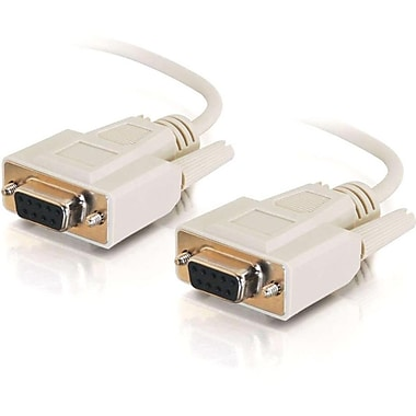 C2G 3045 10' Null Modem Cable, Beige