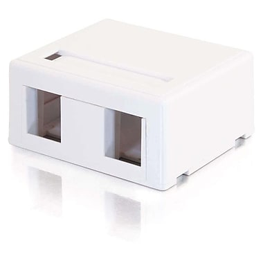 C2G 3833 2 Port Surface Mount Box, White