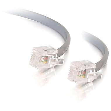 C2G 8133 25' Modular Telephone Cable, Silver