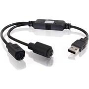 C2G – Câble adaptateur pour clavier/souris USB 1.1 à PS/2 32185, 1 pi