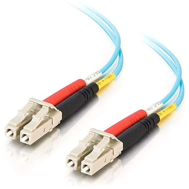 C2G 33047 9.8' Duplex Multimode Fiber Optic Cable, Aqua