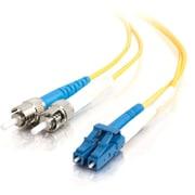 C2G 37475 6.6' Duplex Multimode Fiber Optic Cable, Yellow