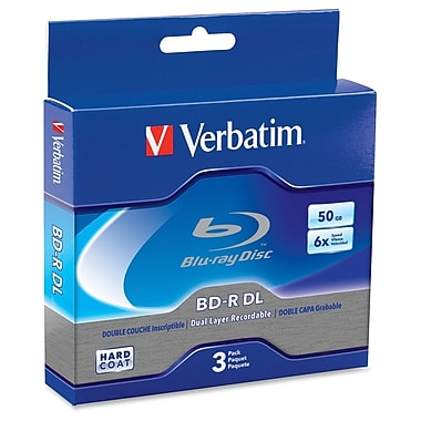 Verbatim – Disque Blu-ray double couche Bd-R Dl 6X