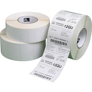 Zebra Label Paper 3 X 2In Direct Thermal Zebra Z-Perform 2000D 1 In Core