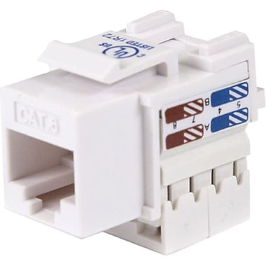 Startech.ComMD – Connecteur Keystone Cat 6 Rj45 blanc, type 110