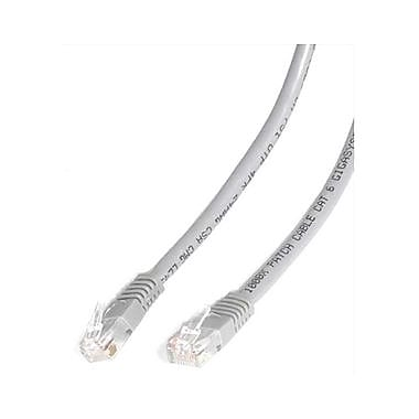 StarTech.com® C6PATCH20GR 20' Cat 6 Molded Patch Cable, Grey