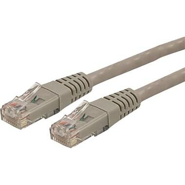 StarTech.com® C6PATCH3GR 3' Cat 6 Molded Patch Cable, Grey