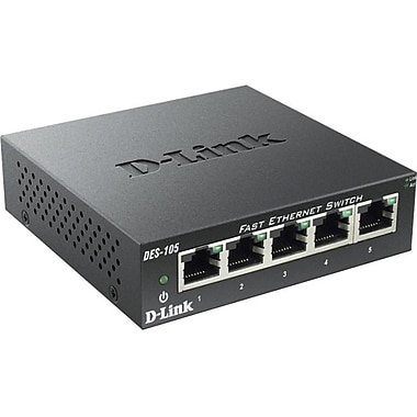 D-Link - Commutateur de table non géréDes-105.5 10/100 à 5 ports