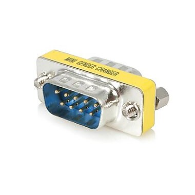 Startech.Com® Slimline Serial Db9 Gender Changer, M/M