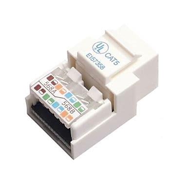StarTech® Cat5E Modular Keystone Jack White, Tool-Less